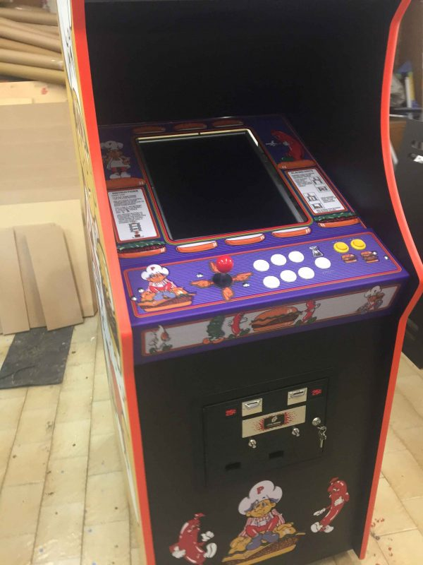 Burgertime,arcade,cabinet,Midway,bally,videogame,anni 80