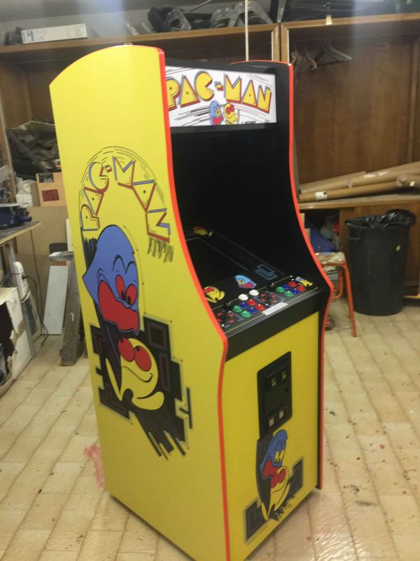 Pacman,arcade,cabinet,Midway,bally,videogame,anni 80