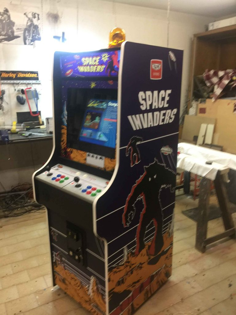 Videogame Cabinato Space Invaders Custom Artwork Nintendo