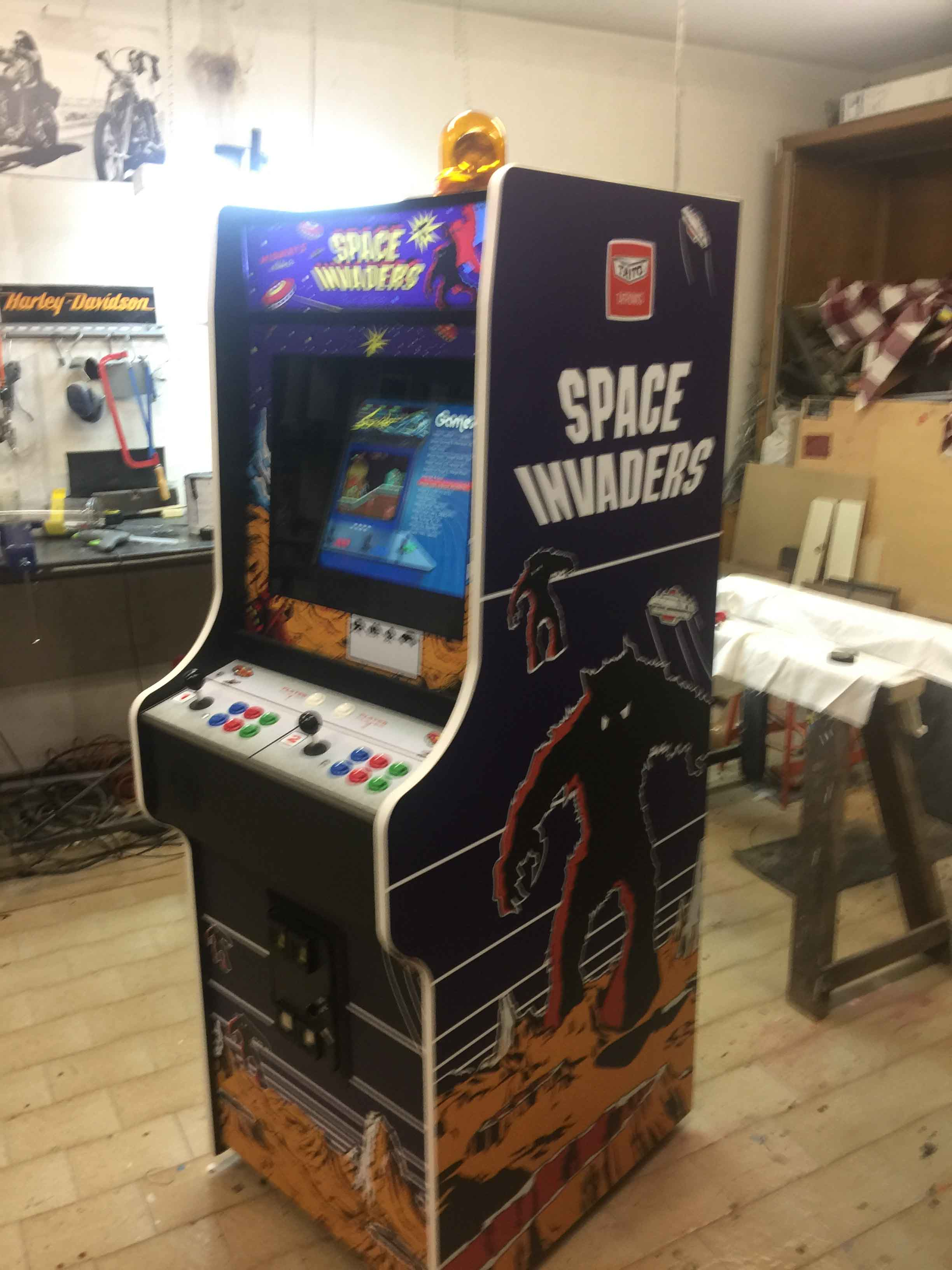 Videogame Cabinato Space Invaders Custom Artwork Nintendo