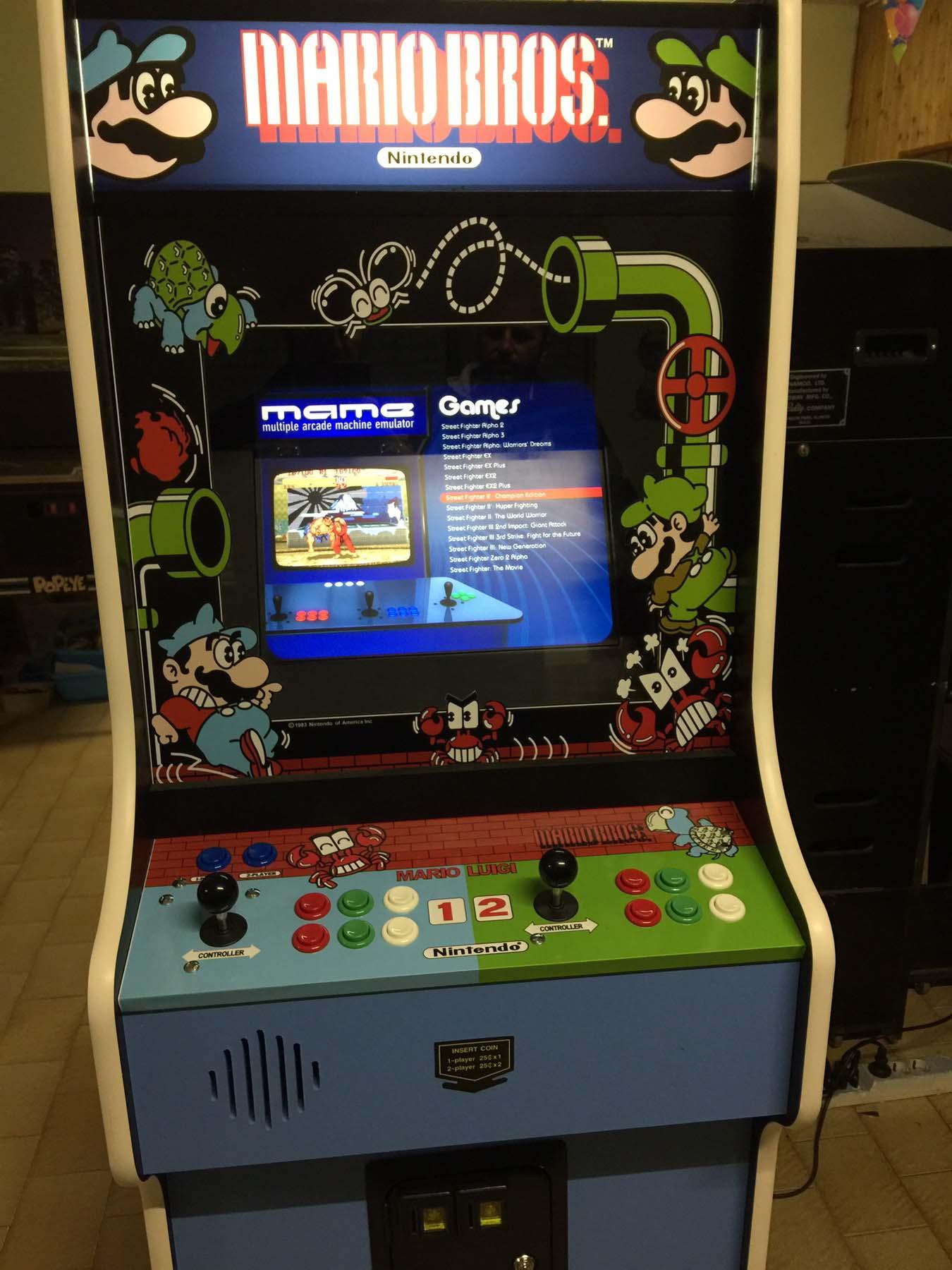 Videogame Arcade Cabinato Mario Bros Replica Originale