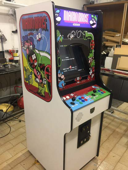 mario Bros,videogame,arcade,cabinet,anni 80,