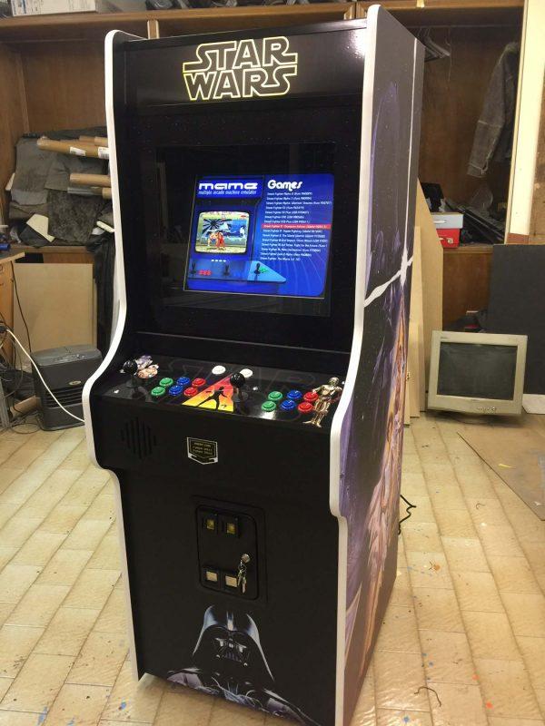 Star wars,videogame,arcade,cabinet,anni 80,