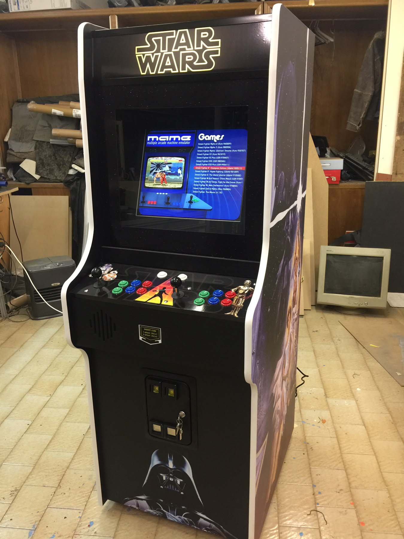 Videogame Arcade Cabinato Star Wars Nintendo Cabinet Custom