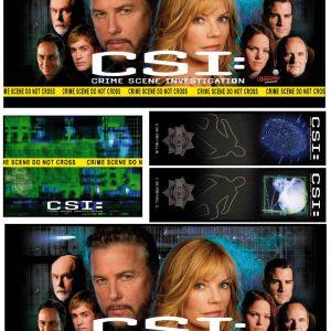 Stern CSI pinball decals